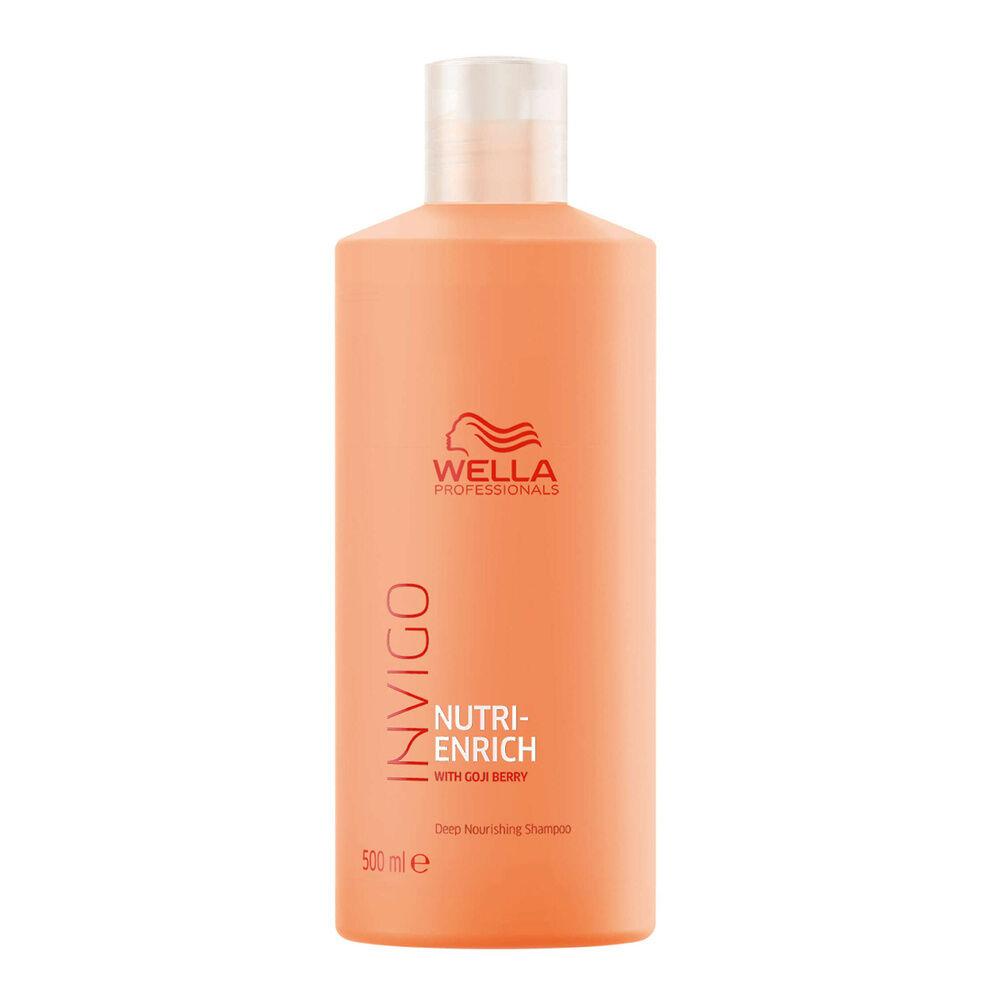 Wella Shampooing nourrissant NUTRI-ENRICH, pour une nutrition intense XXL 500ml Shampooing pour cheveux secs ou fragilisés