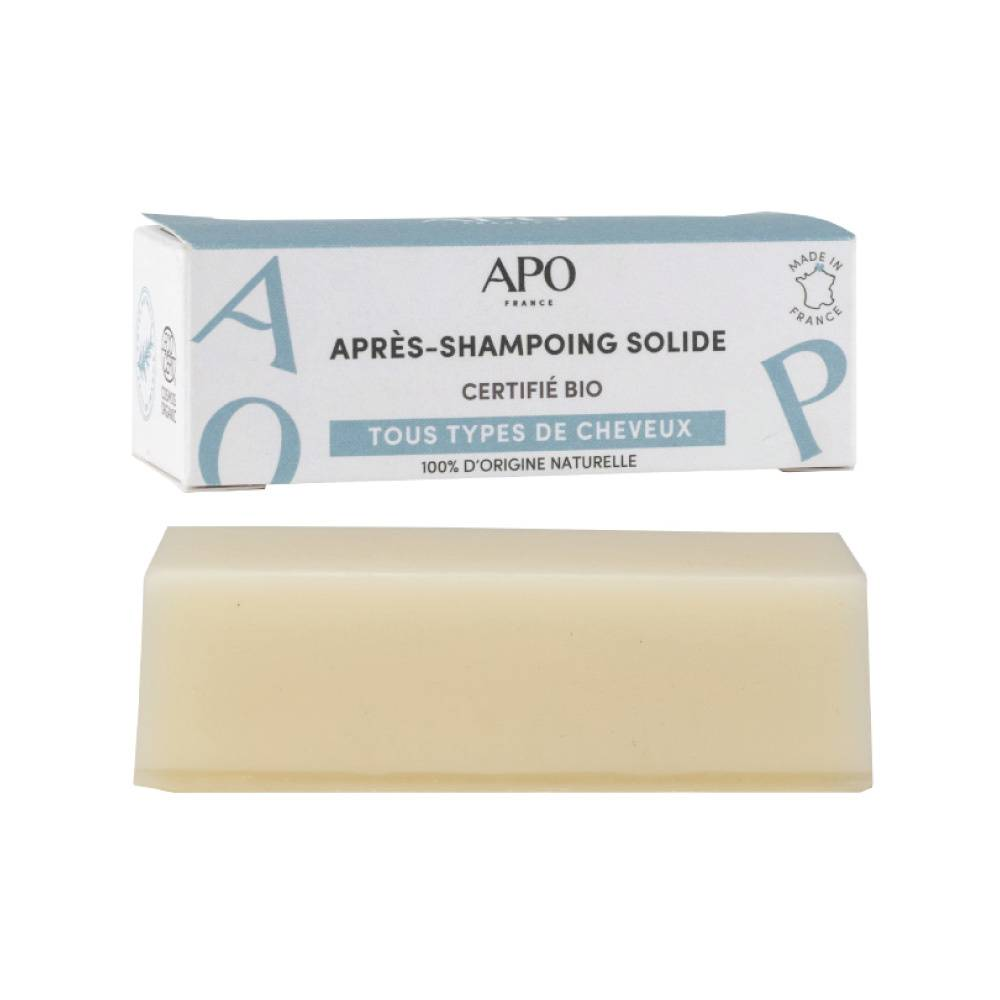 APO France Après-Shampoing solide - Barre démélante 50g Après-shampoing solide