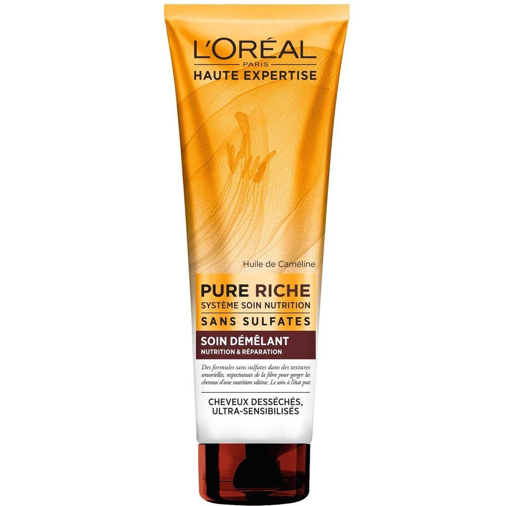 L'Oréal Paris Haute Expertise Pure Riche Après-Shampoing démêlant réparateur cheveux desséchés