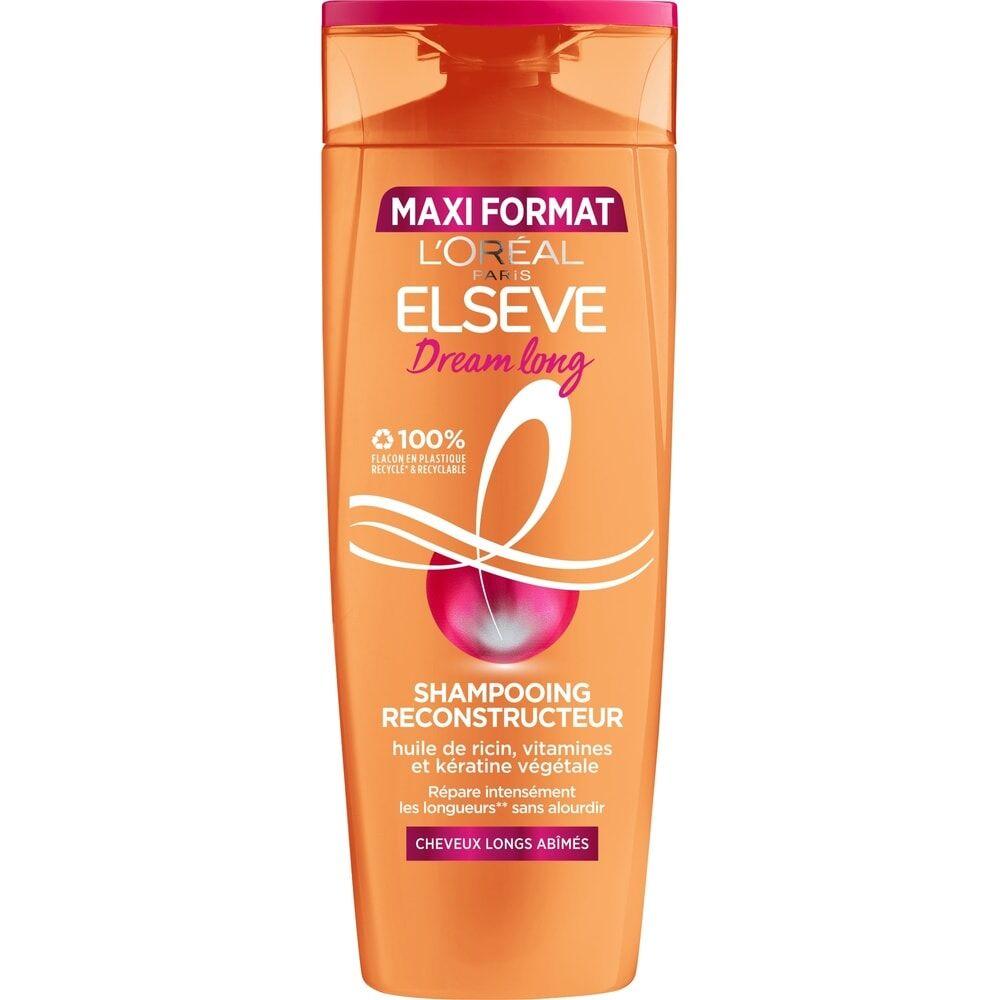 L'Oréal Paris Elseve Dream Long Shampoing reconstructeur enrichi en huile de ricin et kératine cheveux longs