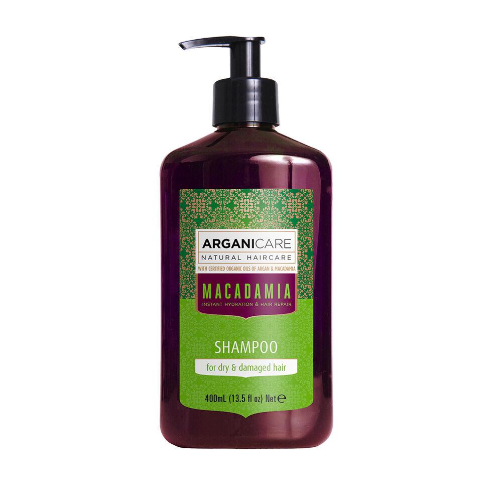 Arganicare Shampooing à l'huile de macadamia réparateur  pour cheveux secs et abimés.