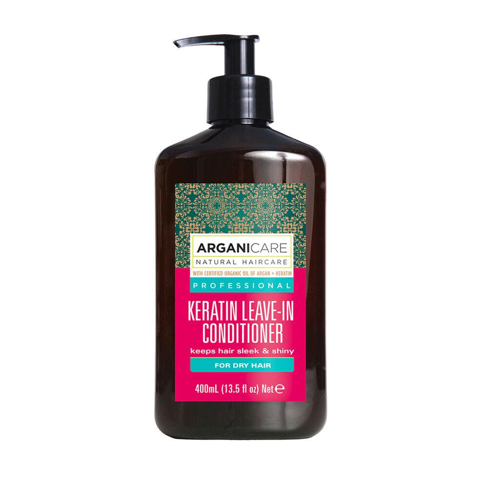 Arganicare Soin sans rinçage à la  kératine Hydratant protecteur pour cheveux secs et abimés.