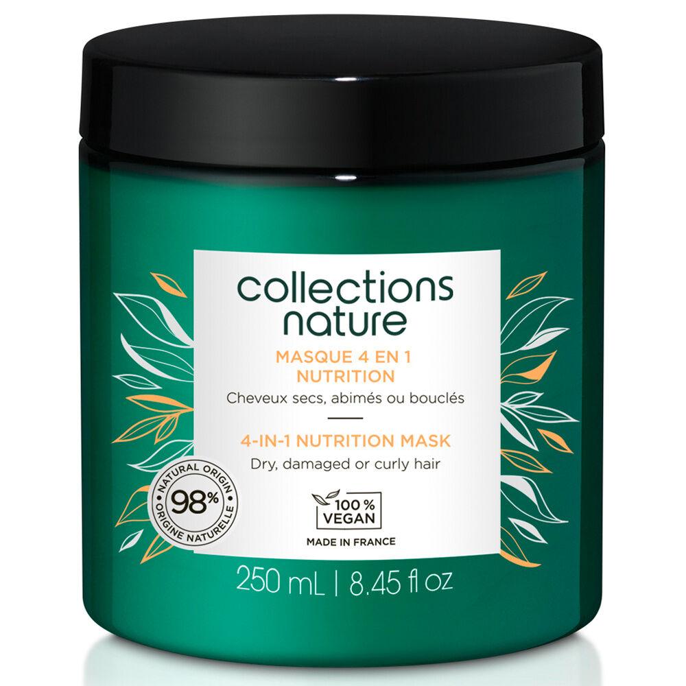 Collections Nature Masque 4 en 1 Nutrition Idéal pour les cheveux secs, abimés, bouclés
