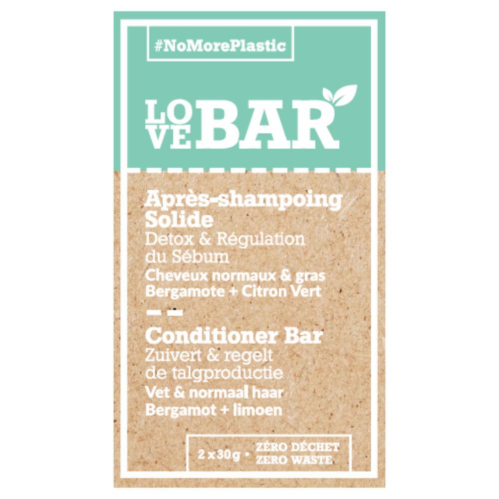 Love bar Après-shampoing solide détoxifiant & régulateur la bergamote et au citron vert Apres-shampoing Solide