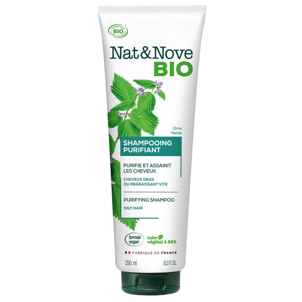 Nat & Nove Shampooing Purifiant certifié bio Shampooing certifié bio / Cheveux gras