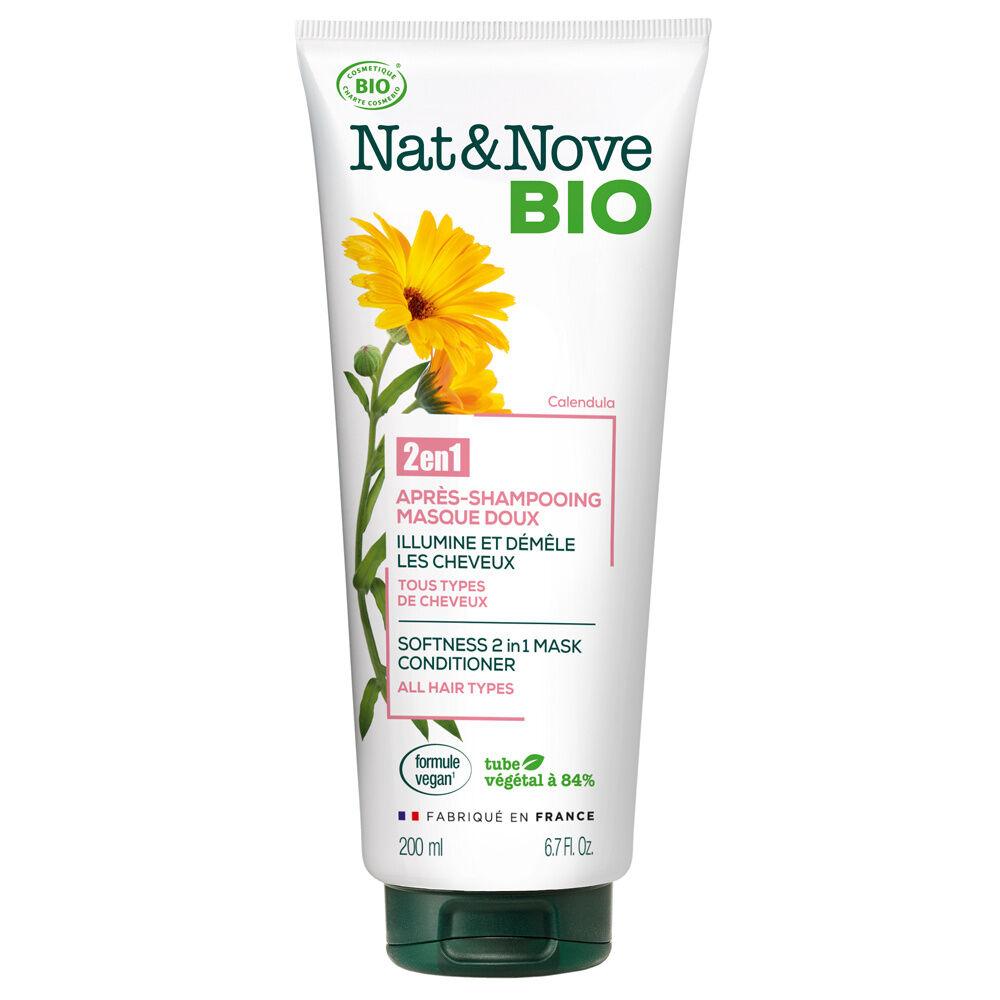 Nat & Nove Après-shampooing - Masque 2 en 1 Doux certifié bio Après-shampooing - Masque 2 en 1 certifié bio / Tous types de cheveux