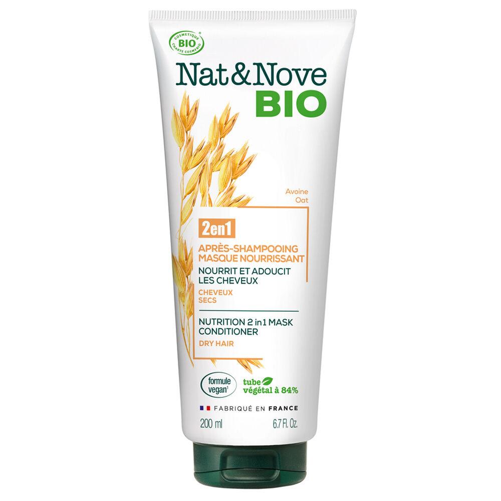Nat & Nove Après-shampooing - Masque 2 en 1 Nourrissant certifié bio Après-shampooing - Masque 2 en 1 certifié bio / Cheveux secs