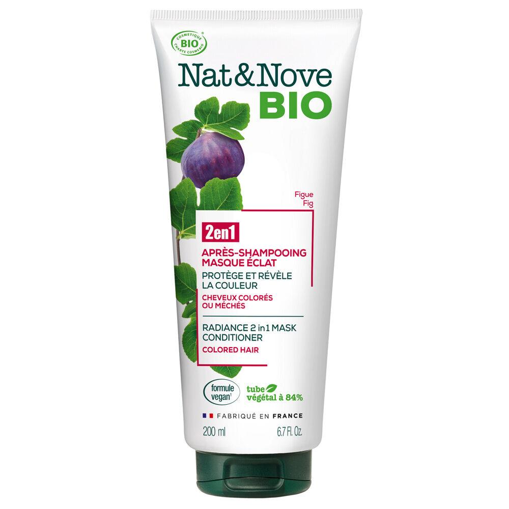 Nat & Nove Après-shampooing - Masque 2 en 1 Eclat certifié bio Après-shampooing - Masque 2 en 1 certifié bio / Cheveux colorés