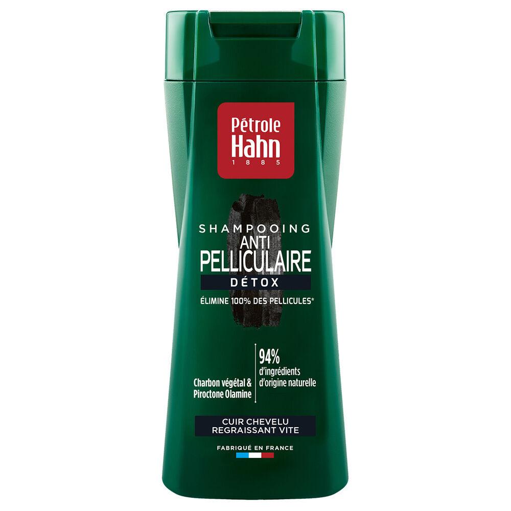 Petrole Hahn Shampooing Anti-Pelliculaire Détox Charbon Végétal Shampooing anti-pelliculaire pour cuir chevelu regraissant vite