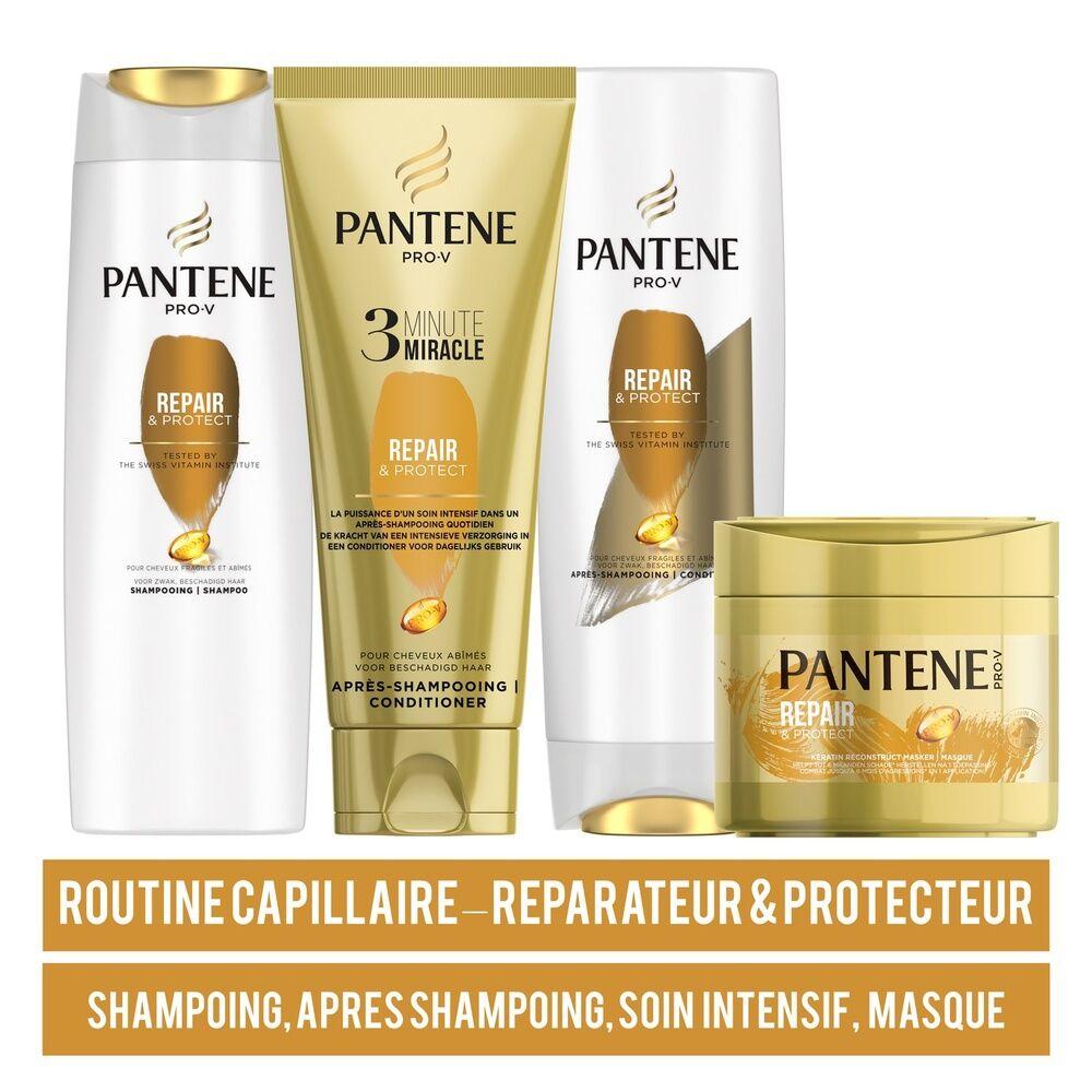 pantene Routine Beauté Cheveux Pantene Pro-V, Routine Capillaire, Repair&Protect, Shampoing + Après Shampoing+ Soin Intensif +  Masque