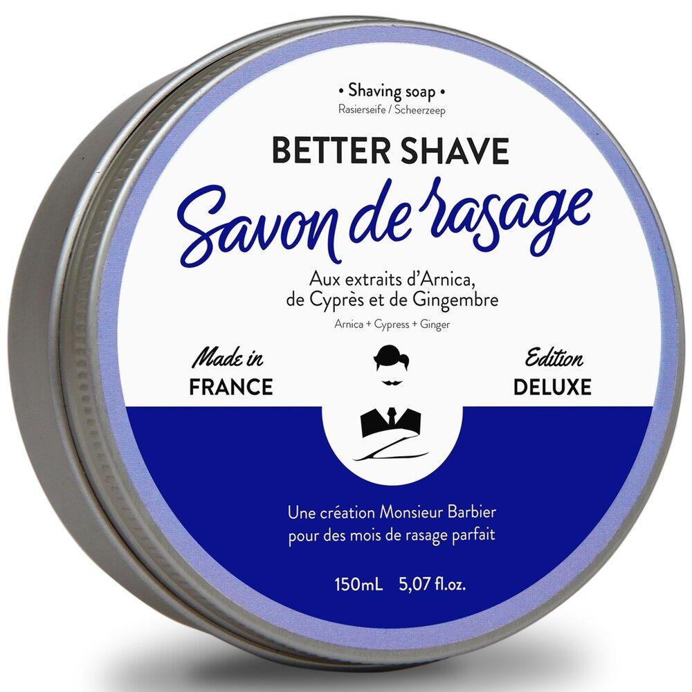 Monsieur Barbier Better-Shave Savon de rasage Savon de Rasage Traditionnel Anti-Irritations Made in France