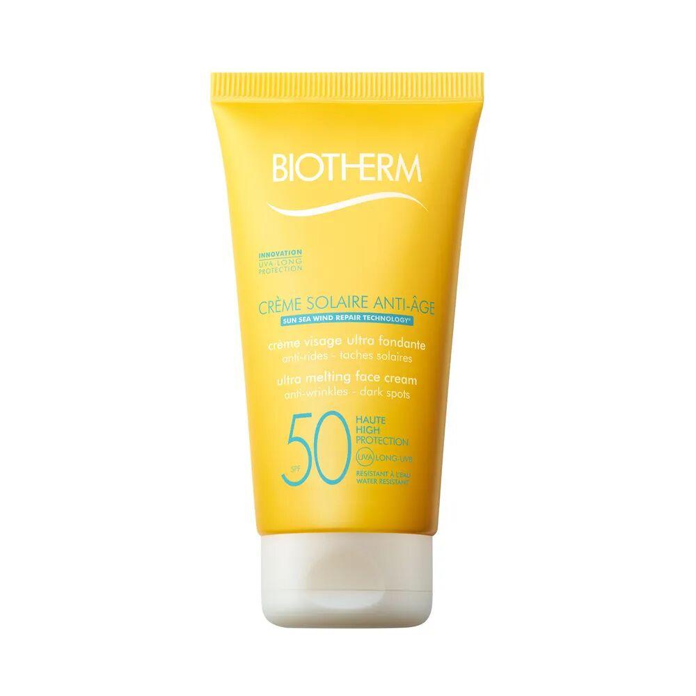 Biotherm Solaire Crème solaire visage ultra fondante, anti-rides, anti-tâches solaires - SPF50