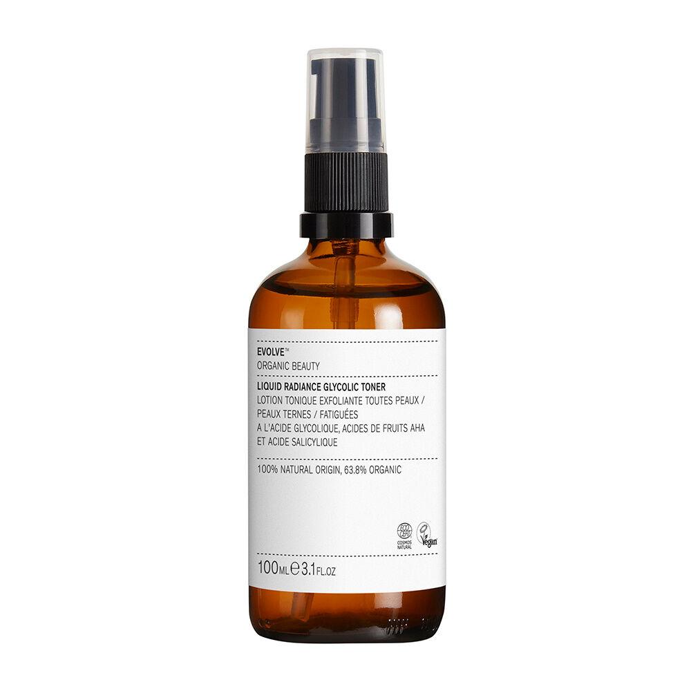 Evolve Organics Beauty LIQUID RADIANCE GLYCOLIC TONER Exfoliant liquide