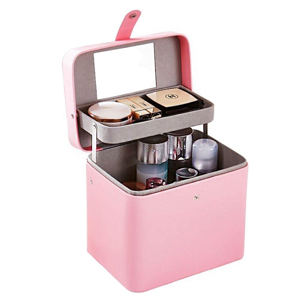 Stella Maris  Boîte de rangement de voyage rose élégante pour articles de toilette et cosmétiques