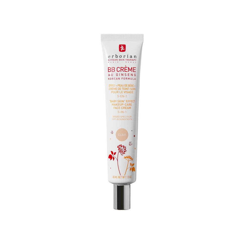 Erborian BB CREME  AU GINSENG CLAIR Effet peau de bébé  Crème de teint-soin pour le visage 5-en-1
