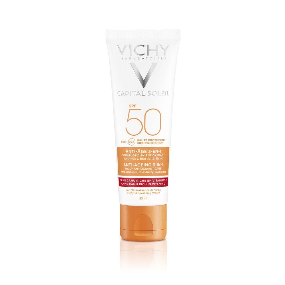 Vichy Idéal Soleil Anti-âge 3-en-1 SPF50