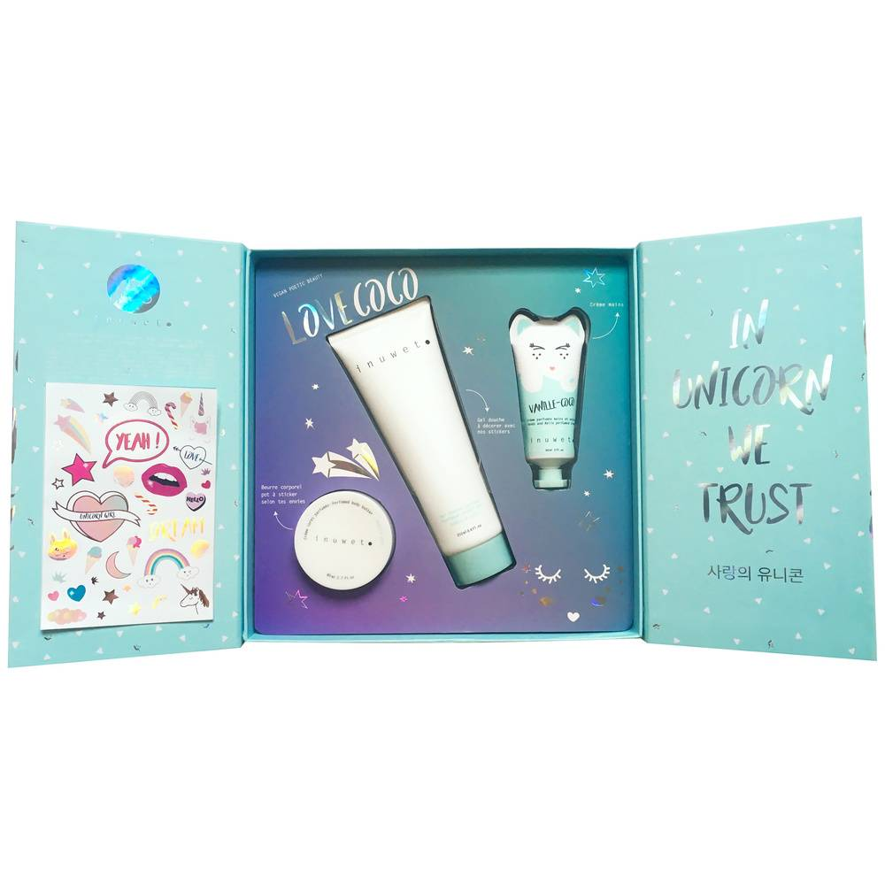 INUWET MAGIC STICKERS BOX VANILLE COCO Coffret bain