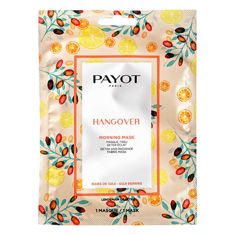 PAYOT MORNING MASK HANGOVER Masque Tissu Détox Éclat