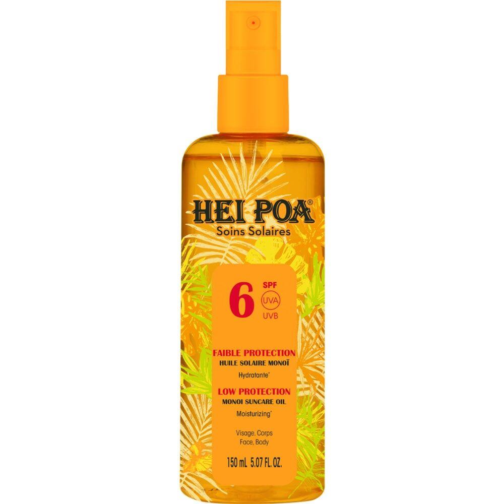 Hei Poa Hei Poa spray huile protection solaire sf6 parfum tiaré 150 ml