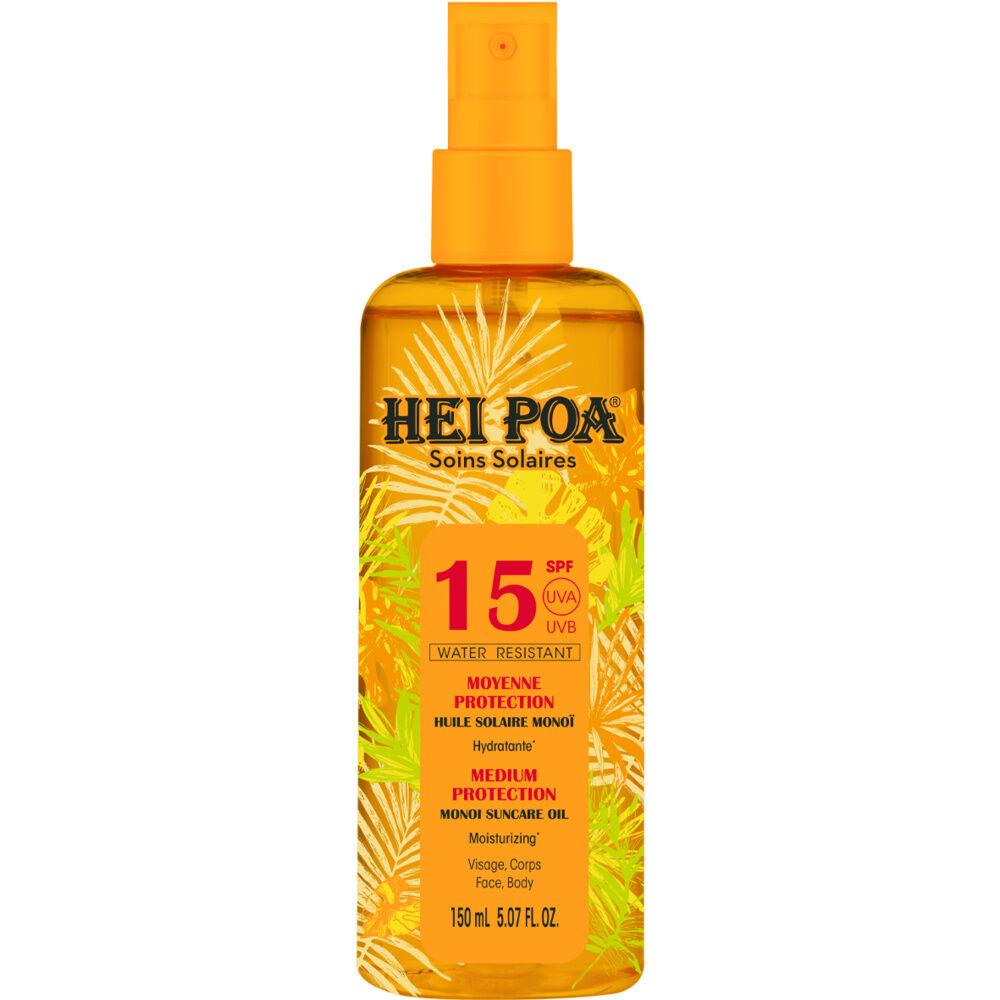 Hei Poa Hei Poa spray huile protection solaire sf15 parfum tiaré 150 ml