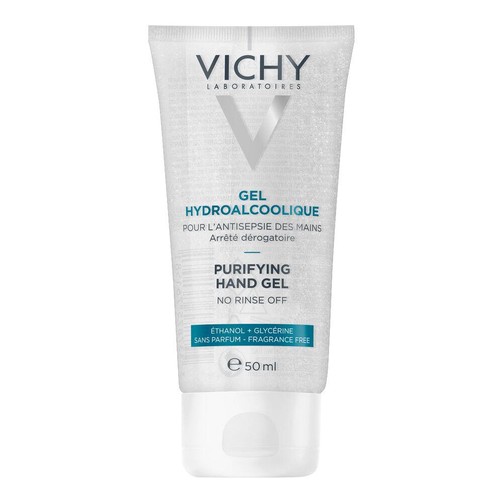 Vichy Gel Hydroalcoolique 50ml Gel nettoyant puifiant pour l'antiseptie des mains