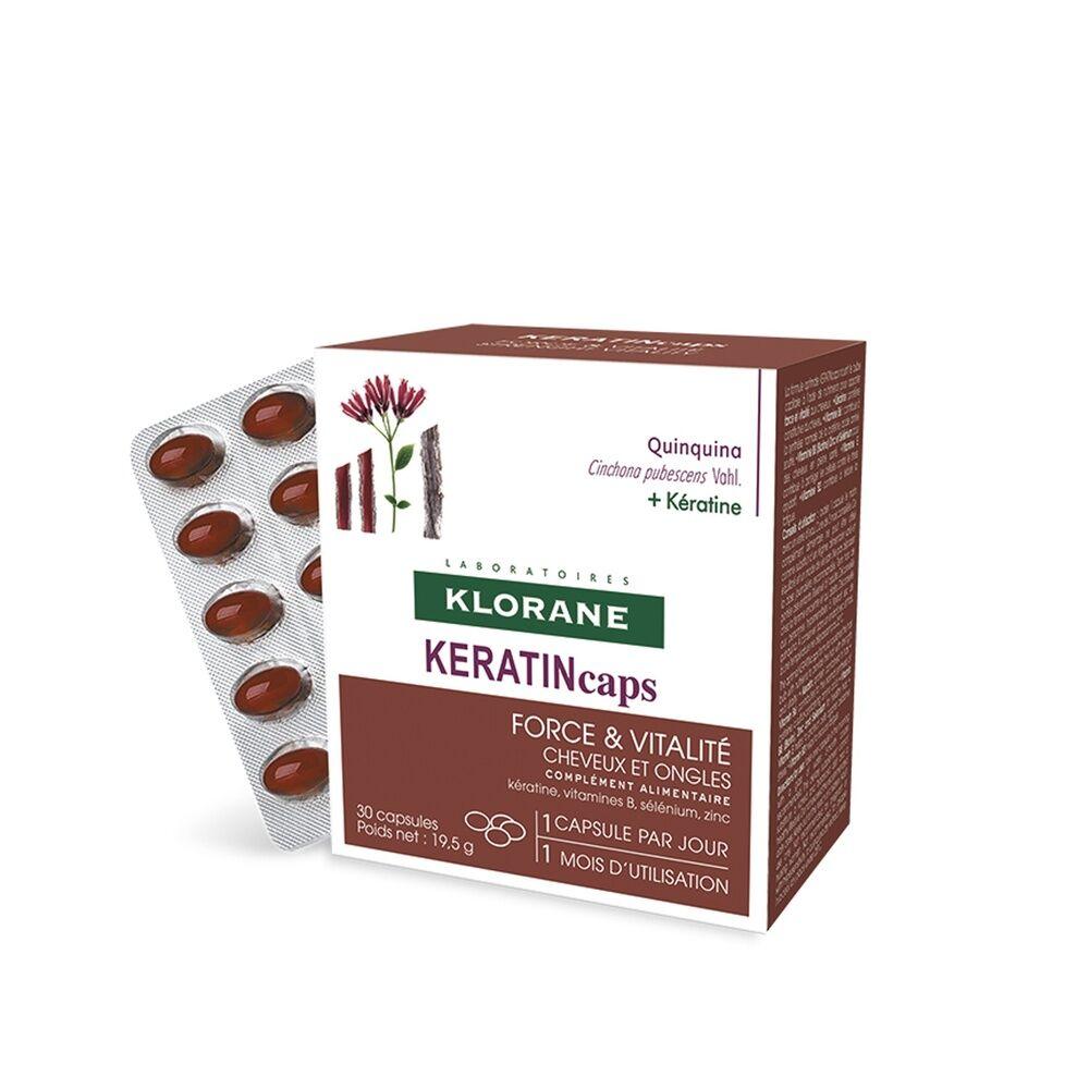 Klorane KeratinCaps boîte 30 caps Complément alimentaire