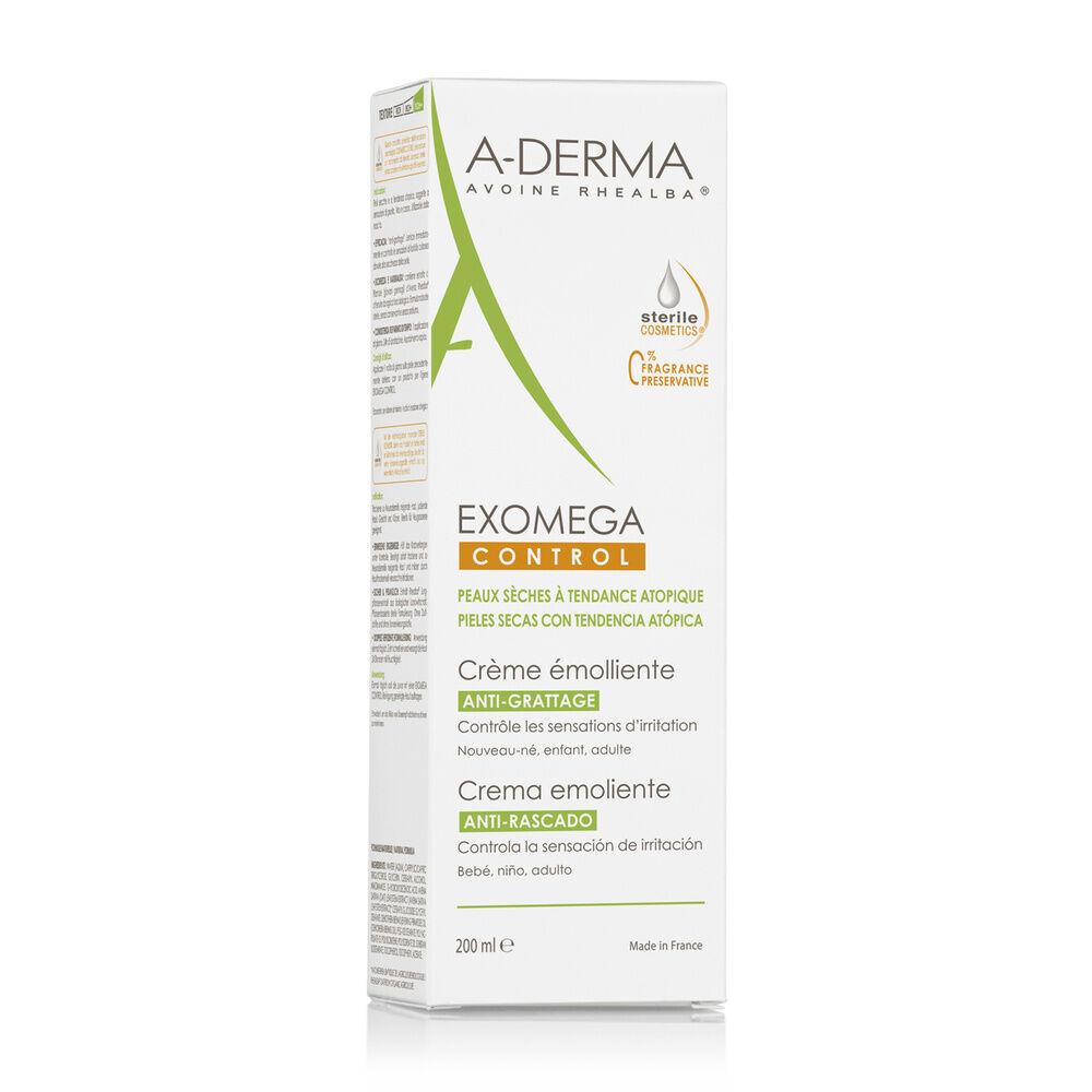 A-Derma Exomega Control Cosmétique stérile  Crème émolliente  Tube 200ml Crème émolliente