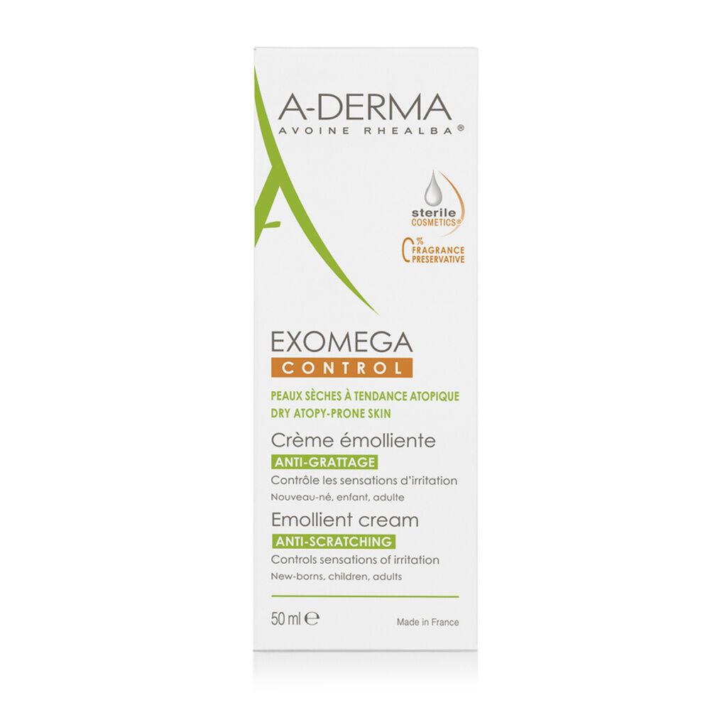 A-Derma Exomega Control Cosmétique stérile  Crème émolliente  Tube 50ml Crème émolliente