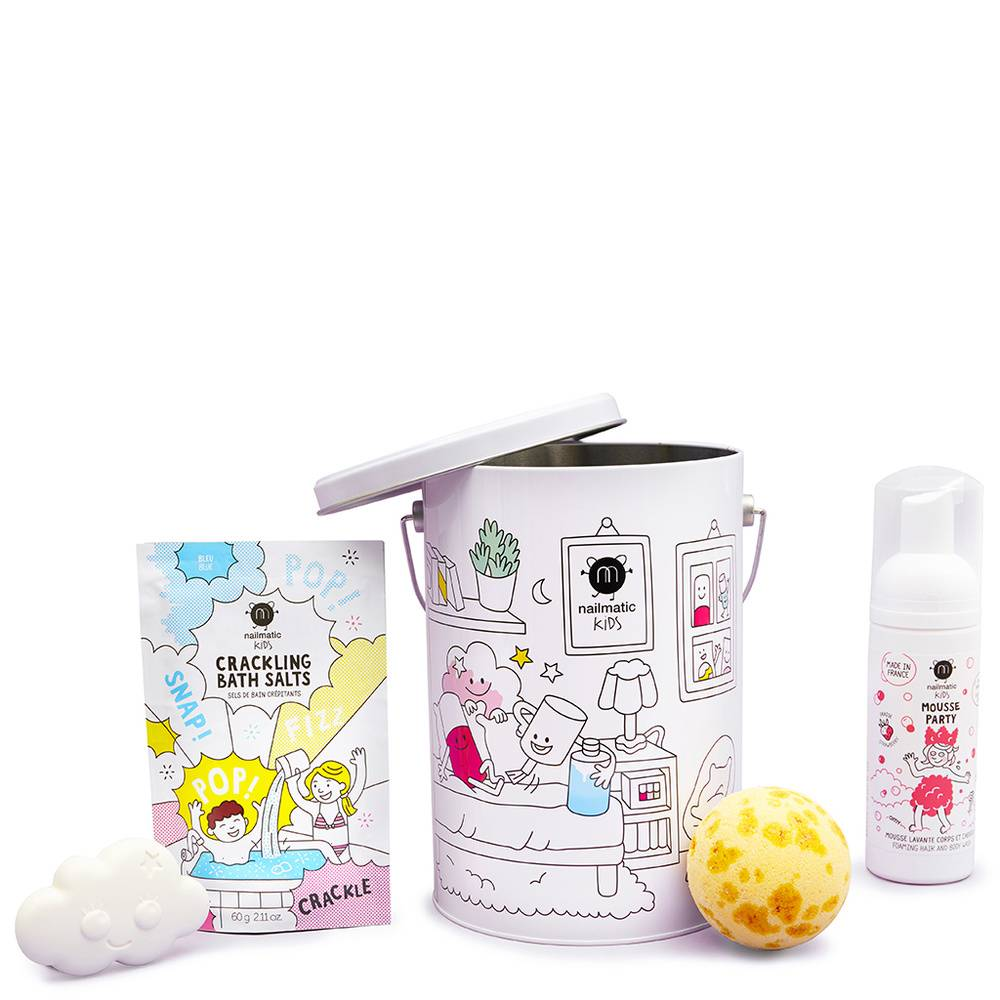 Nailmatic COFFRET BATH BOX SEAU METAL 4 PRODUITS