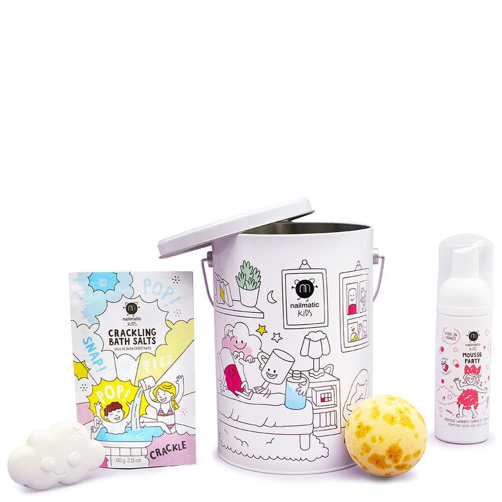 Nailmatic COFFRET BATH BOX SEAU METAL 4 PRODUITS