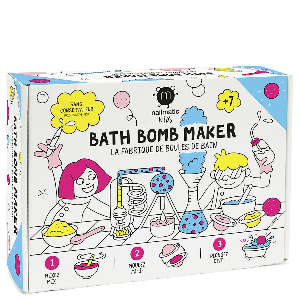 Nailmatic COFFRET LA FABRIQUE DE BOULES DE BAIN Coffret DIY 4 boules bain et  4 couleurs