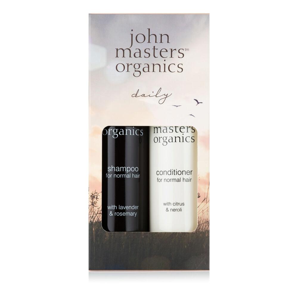 John Masters Organics Collection Soin Quotidien - Shampoinget après-shampoing pour cheveux normaux Coffret de Noël
