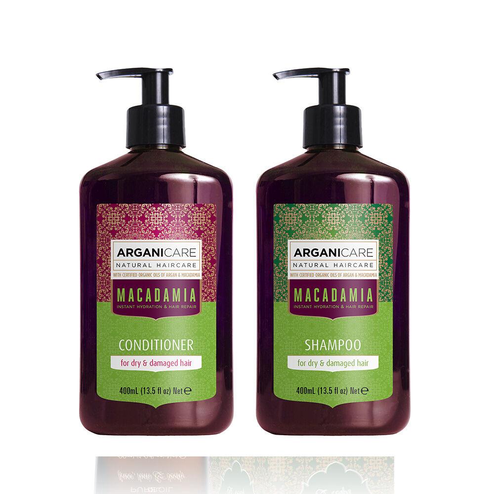 Arganicare Duo Hydratant à l'huile de Macadamia cheveux secs et abimés Shampooing  et après shampooing