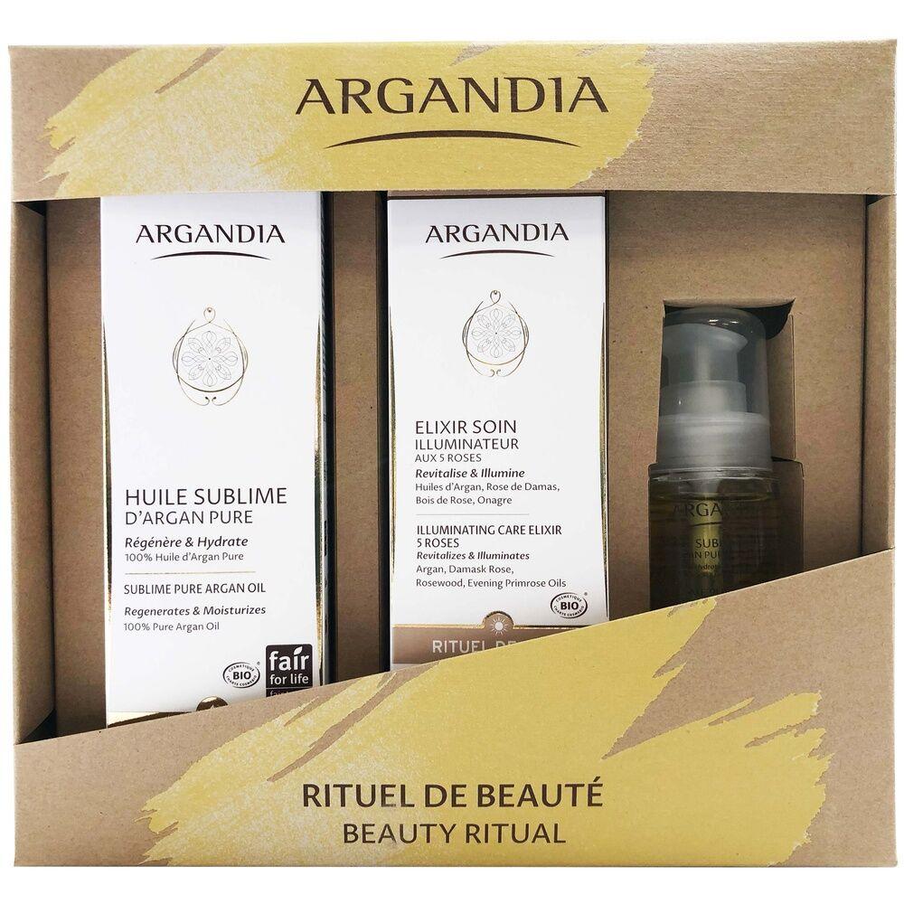 Argandia Coffret Huile sublime Argan Pure 50 ml / Huile sublime Argan Pure 150 ml