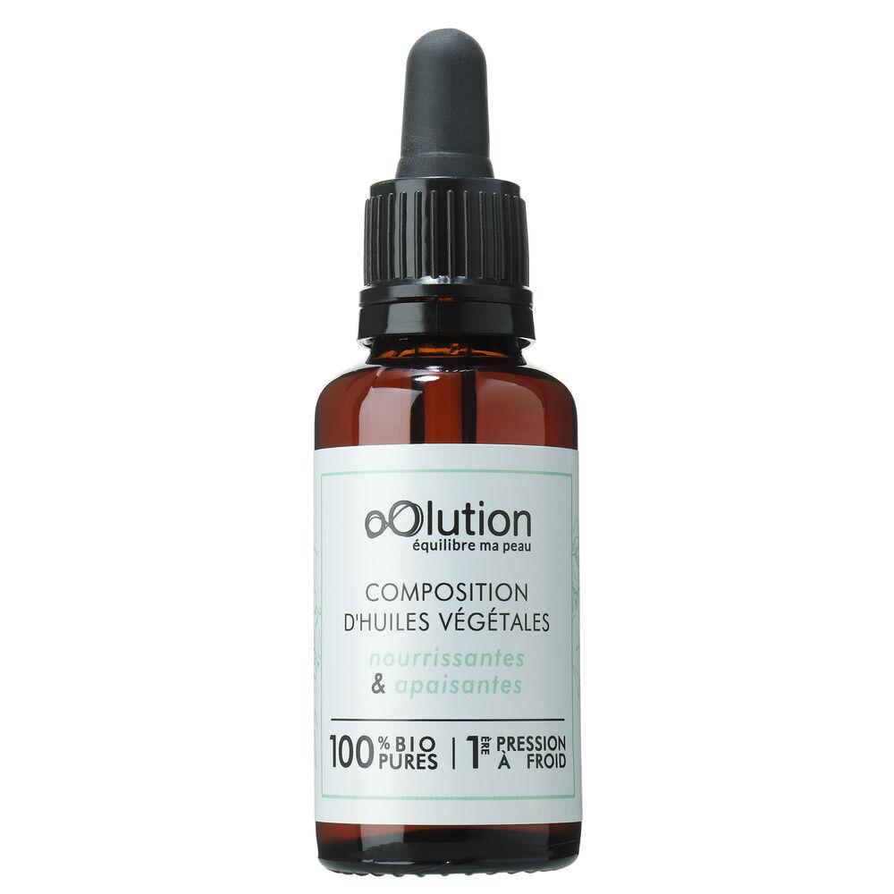 Oolution Composition d'huiles 100% naturelle Huiles végétales nourrissantes&apaisantes