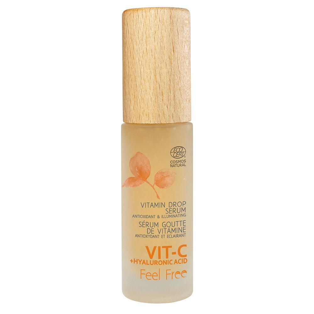 Feel Free Vitamin Drop Sérum Vitamine C + Acide Hyaluronique Sérum Anti-âge Ecocert