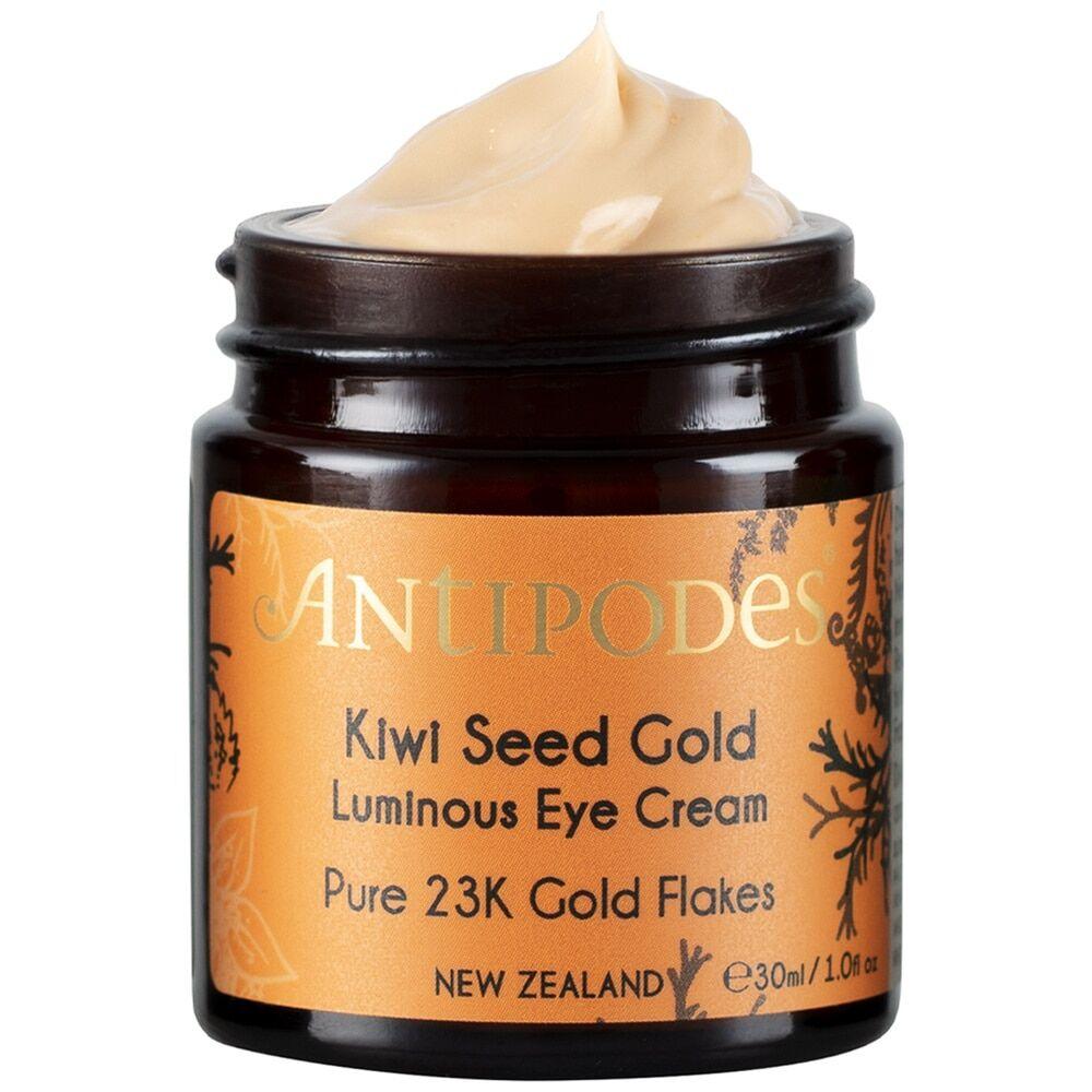 Antipodes Soin yeux Crème contour des yeux illuminatrice naturelle aux flocons d'or 23 carats 30 ml