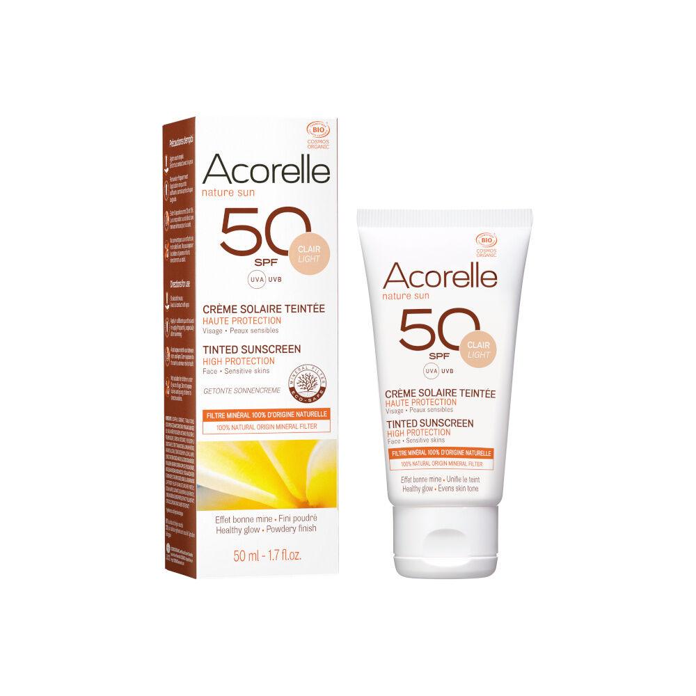 acorelle Produits Solaires Crème Solaire Visage Teintée Claire SPF50 50ML
