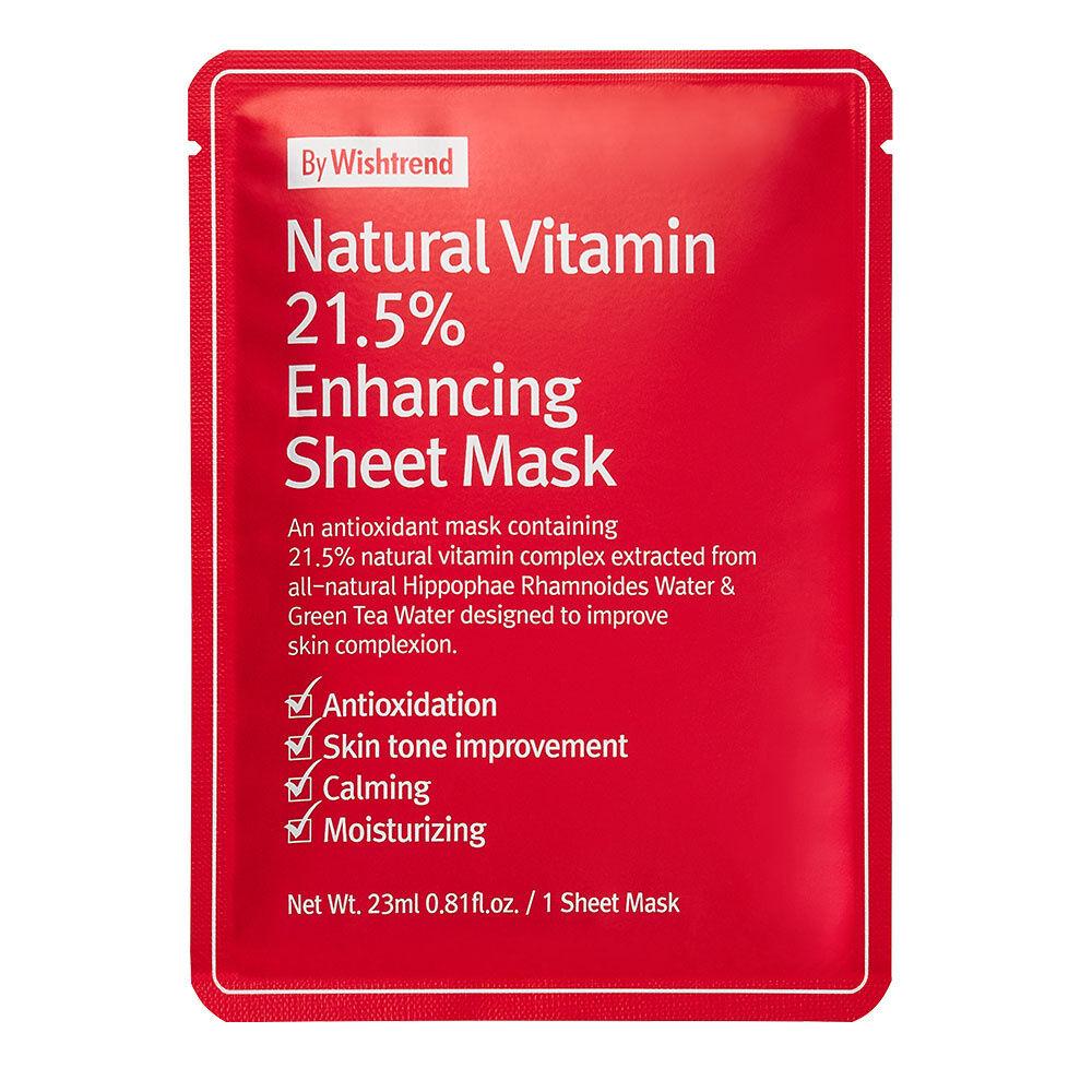 By Wishtrend  Lot de 10 Masques feuilles optimisateursà la Vitamine C naturelle 21,5% by Wishtrend