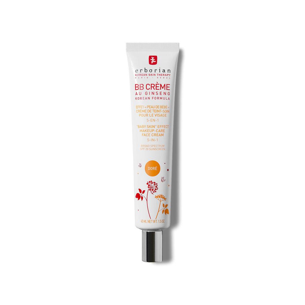Erborian BB CREME  AU GINSENG DORÉ Effet peau de bébé  Crème de teint-soin pour le visage 5-en-1