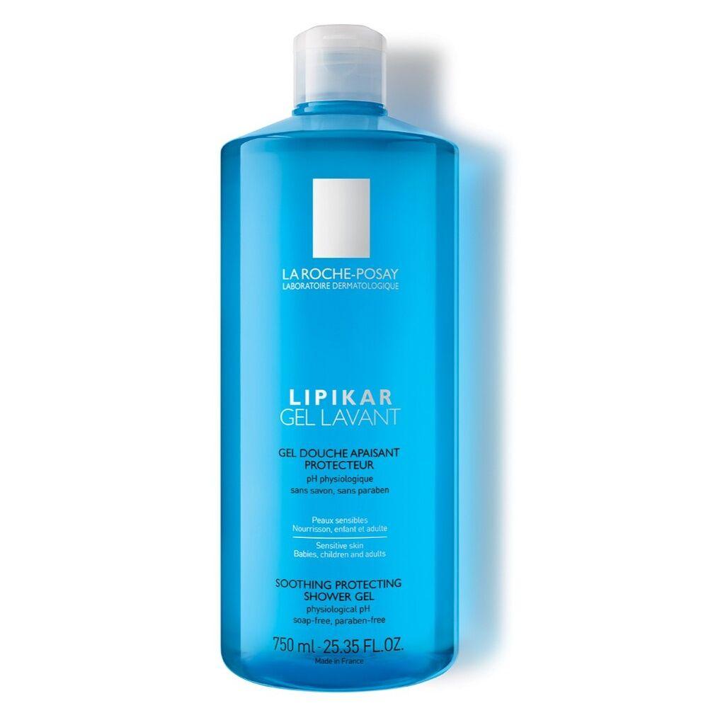 La Roche Posay Lipikar Gel lavant apaisant protecteur 750ml Gel douche peaux sensibles nourrissons,enfants, adultes