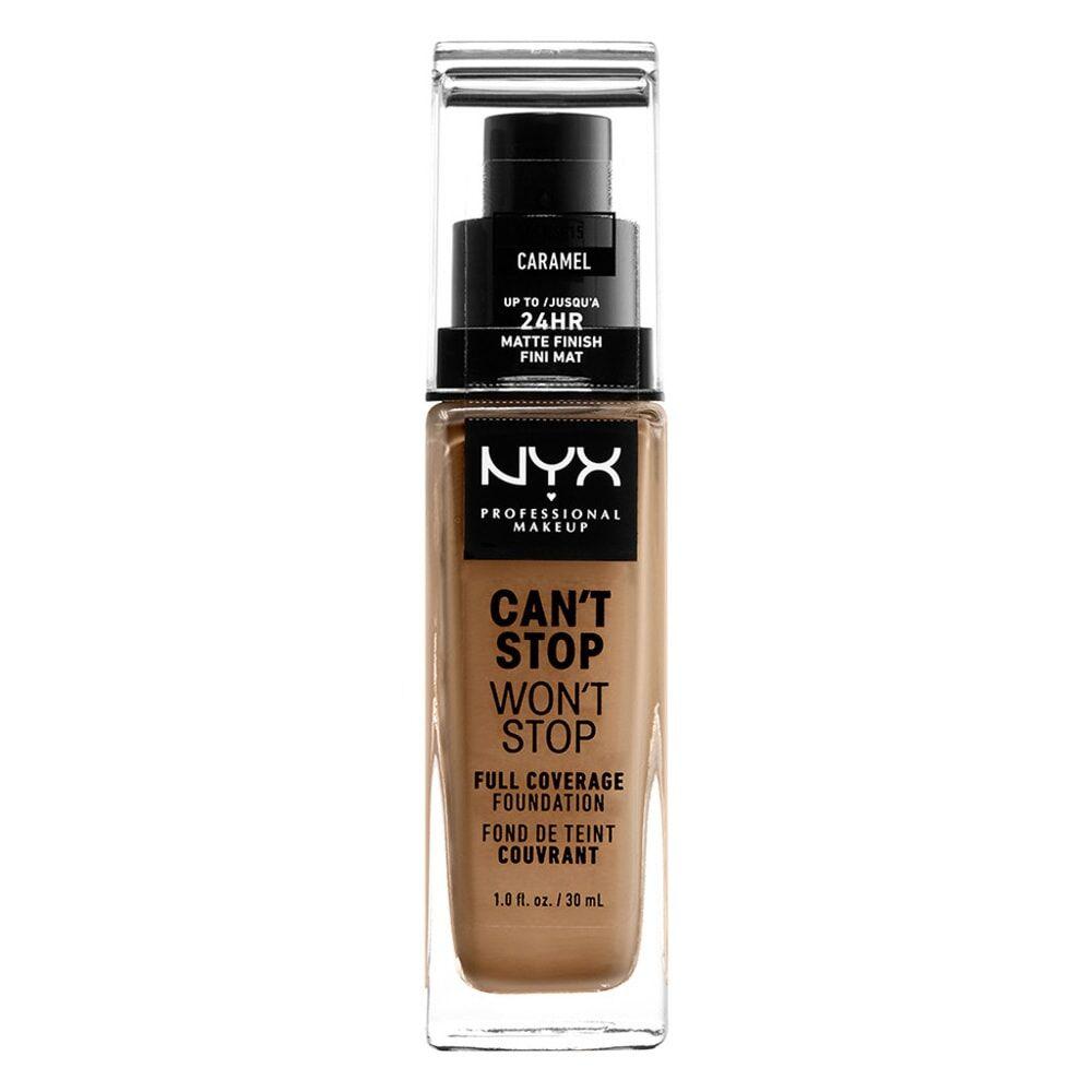 NYX Professional Makeup Can't Stop Won't Stop Fond de Teint Liquide Fond de teint liquide longue tenue - Caramel