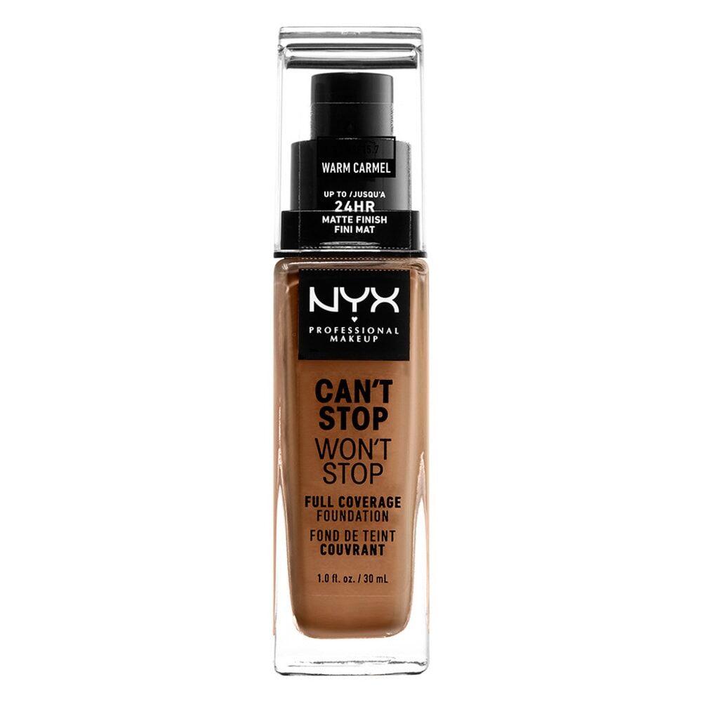 NYX Professional Makeup Can't Stop Won't Stop Fond de Teint Liquide Fond de teint liquide longue tenue - Warm Caramel
