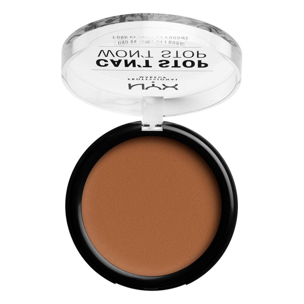 NYX Professional Makeup Cant Stop Wont Stop Fond de Teint Compact Warm Caramel
