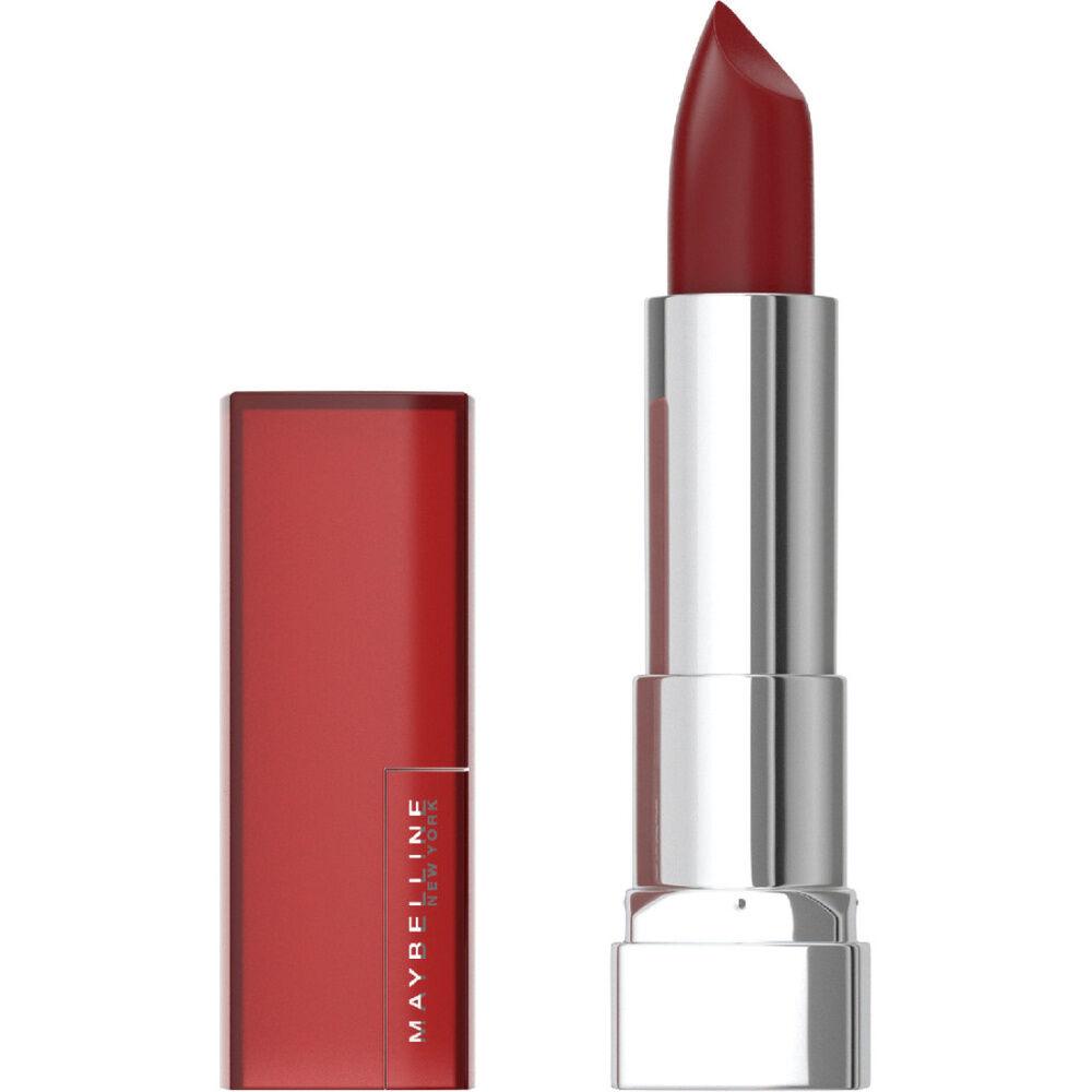 Maybelline New York Color Sensational - Les audacieux Rouge à lèvres mat couleur intense à haute couvrance