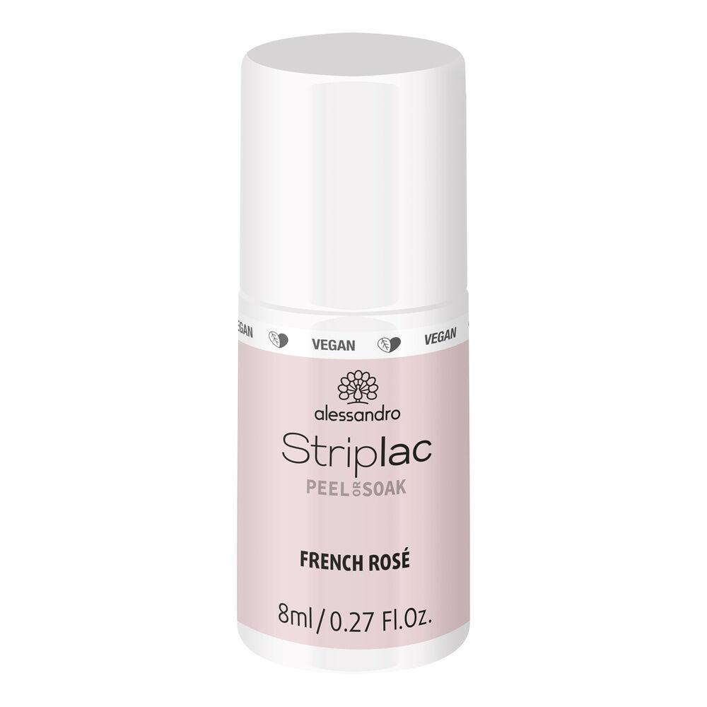 Alessandro Striplac Peel or Soak French Rose 8 ml Vernis  semi-permanent LED longue tenueStriplac Peel or Soak