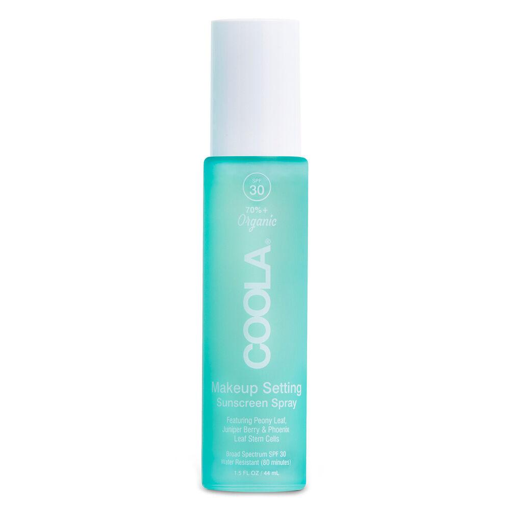 Coola Spray Solaire Visage Fixateur de Maquillage SPF 30 au Thé Vert & Aloe Vera Protection solaire visage