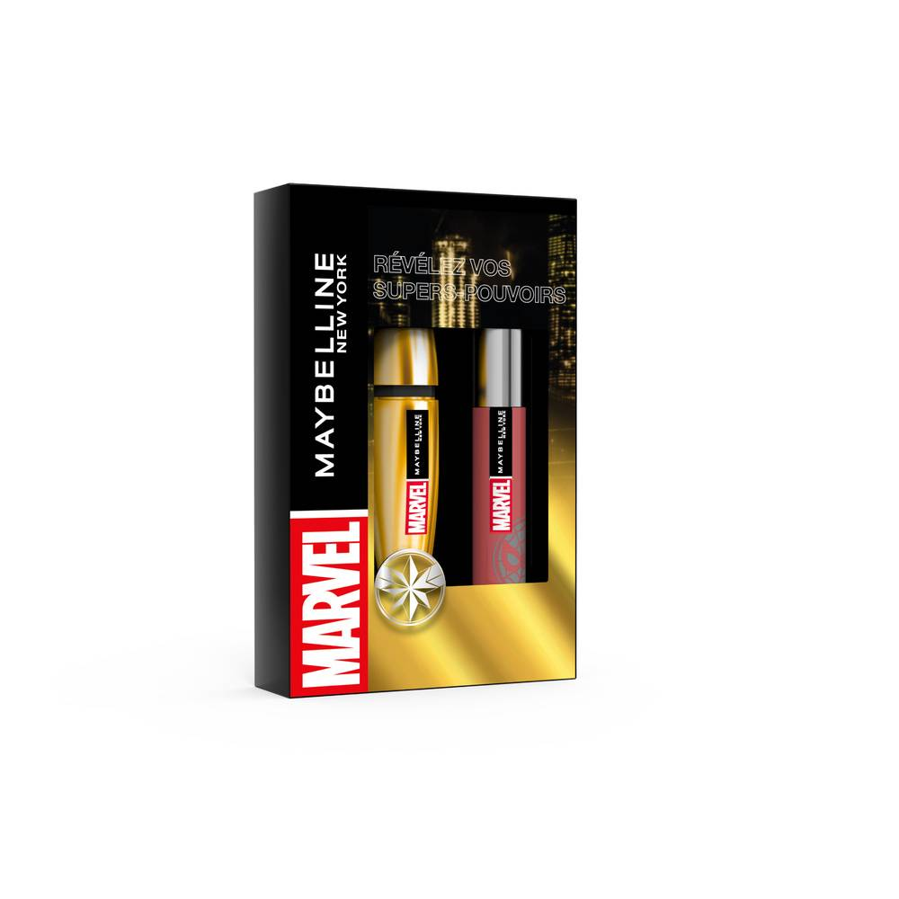 Maybelline New York MARVEL x MAYBELLINE NY Coffret Coffret Mascara et Rouge à lèvres