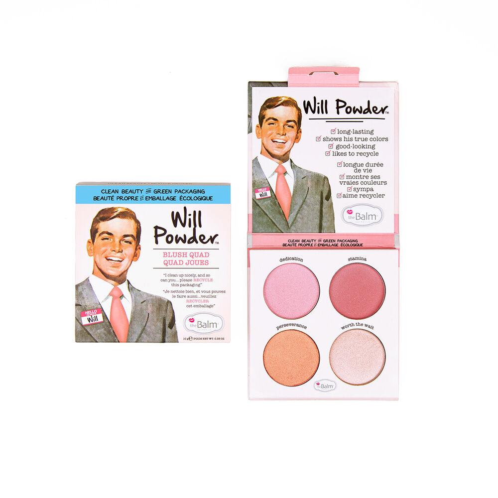 theBalm Will Powder Quad - 10g Palette blush