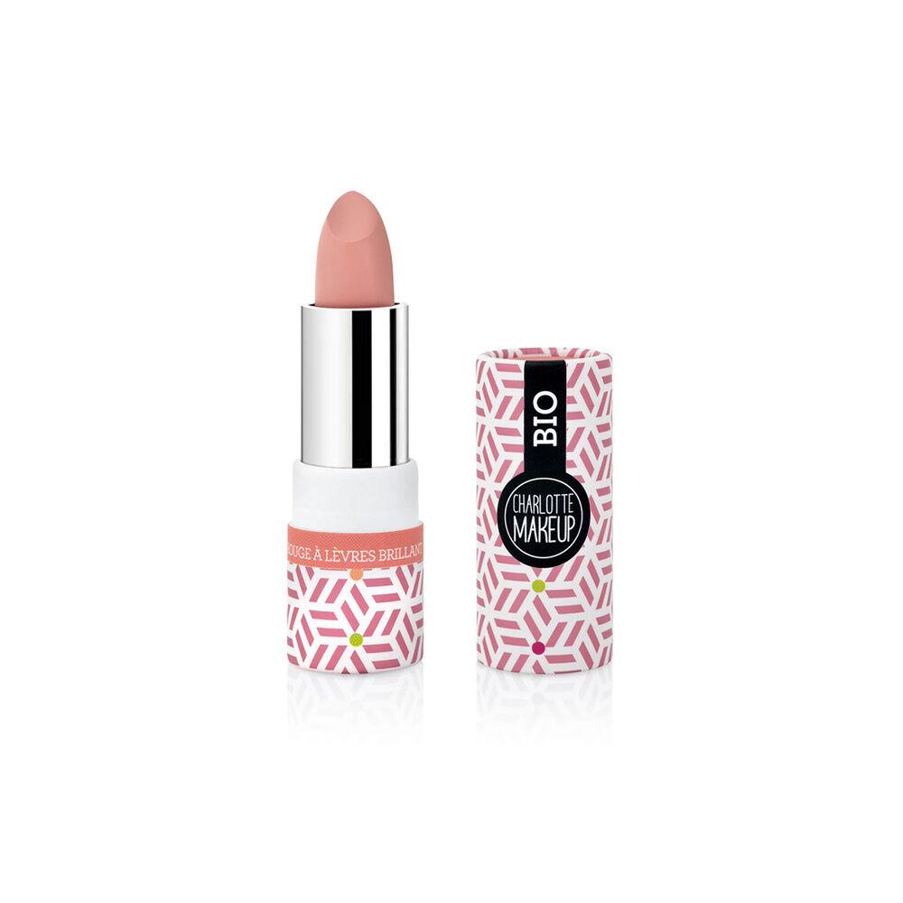 Charlotte Bio 04- Rouge à lèvres Eclat Nude Brillant Bio Rouge à lèvres